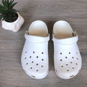 White CROCS Classic Clogs Adventure Shoes, Sandals